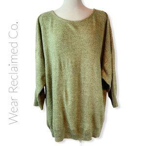 ALIA Plus Moss Green Lightweight Knit Swea…
